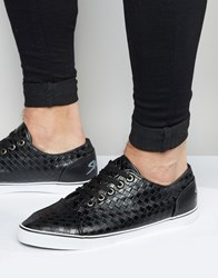 Rock And Religion Woven Plimsolls Black
