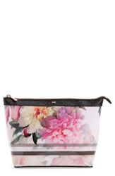 Ted Baker London Magda Floral Print Large Pouch Baby Pink