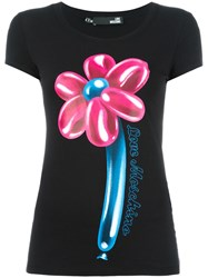 Love Moschino 'Flower' T Shirt Black