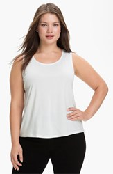 Eileen Fisher Plus Size Women's Silk Tank Soft White