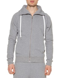 Tomas Maier Fleece Zip Up Hoodie Gray