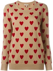 Burberry London Heart Jumper Nude And Neutrals