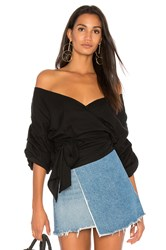 Mlm Label Salo Wrap Top Black