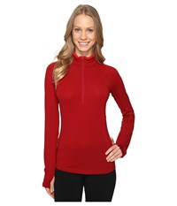 Icebreaker Zone Long Sleeve Half Zip Oxblood Rocket Women's Workout Red