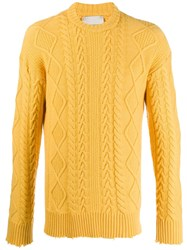 Laneus Textured Detail Jumper Yellow