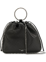Balmain Studded Bucket Bag Black