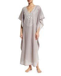 Flora Bella Mossell Embroidered Long Caftan White