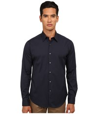 Theory Sylvain Eclipse Men's Long Sleeve Button Up Olive