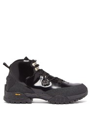 1017 Alyx 9Sm Patent Leather Hiking Boots Black