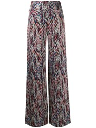 Missoni Zigzag Pattern Knitted Leggings Grey
