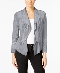 Alfani Petite Faux Suede Open Front Jacket Only At Macy's Modern Metal