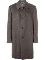Canali Single Breasted Coat Brown