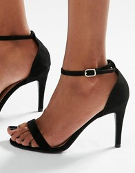 New Look Barely There Heeled Sandal Black