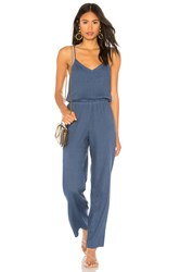 Monrow Sleeveless Jumpsuit Blue