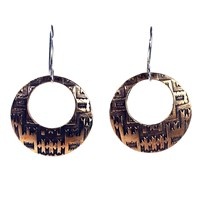House Of Alaia Navajo Dream Earrings Antiqued Bronze With Clear Nano Coating And Sterli
