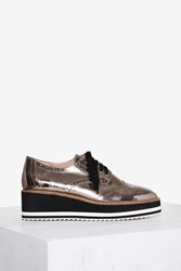Shellys London Cece Patent Leather Oxford Shoe Multi