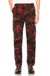 Valentino Camouflage Cargo Pants In Abstract Red Abstract Red