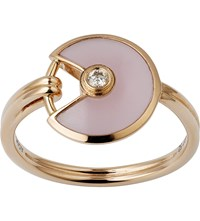 Cartier Amulette De 18Ct Pink Gold Pink Opal And Diamond Ring