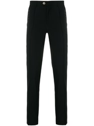 Versus High Rise Tailored Trousers Black