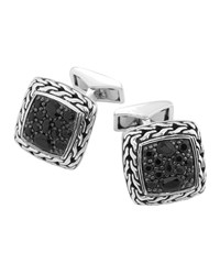 Black Sapphire Square Cuff Links John Hardy Blue