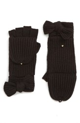 Kate Spade New York Bow Convertible Mittens Black