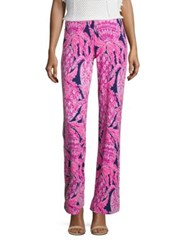 Lilly Pulitzer Georgia May Palazzo Pants Bright Navy Coco Safari