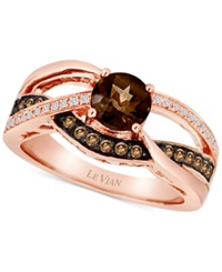 Le Vian Smoky Quartz 5 8 Ct. T.W. And Diamond 1 4 Ct. T.W. Ring In 14K Rose Gold Brown