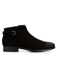 Buttero Buckle Detail Ankle Boots Black