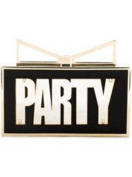 Sara Battaglia 'Lady Me Party Night' Clutch Black