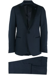 Lardini Slim Tailored Tuxedo Blue