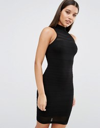 Lipsy Fleur East By Sheer Stripe Dress Black