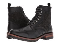 Frye George Adirondack Black Wp Scotchgrain Shearling Tweed Men's Lace Up Boots