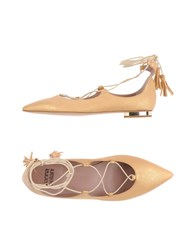 Gianna Meliani Ballet Flats Gold