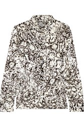 Maison Martin Margiela Flocked Jacquard Shirt Black