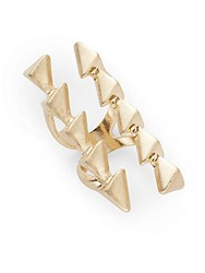 Saks Fifth Avenue Studded Knuckle Ring Gold