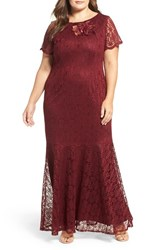 Brianna Plus Size Women's Embellished Lace Mermaid Gown