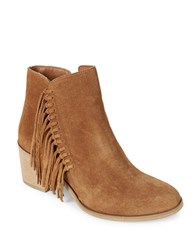 Kenneth Cole Reaction Rotini Suede Booties Cognac