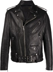 R 13 R13 Zipper Detailed Biker Jacket 60