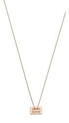 Ginette_Ny Mini Love Plate Necklace Rose Gold
