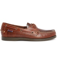Sebago Docksides Brown Smooth Leather Boat Shoes