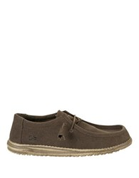 Hey Dude Wally Canvas Loafers Chocolate