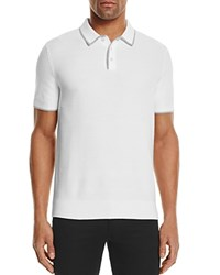 Michael Kors Tuck Stitch Tipped Regular Fit Polo Sweater 100 Bloomingdale's Exclusive White