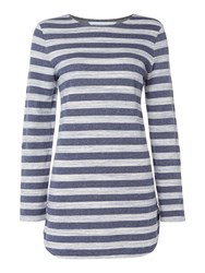 Dickins And Jones Jersey Striped Tunic Multi Coloured Multi Coloured