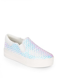Ash Jam Bis Iridescent Slip One Platform Sneakers White Blue