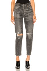 Citizens Of Humanity Lyla High Rise Classic Skinny In Black Gray Black Gray