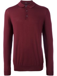 Hugo Boss 'T Bertone' Polo Shirt Red