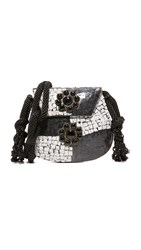 Love Binetti King Cross Body Bag Black White