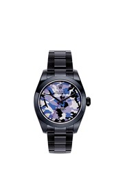 Bamford Watch Department Rolex Milgauss Camouflage Oyster Perpetual Wach Purple Black