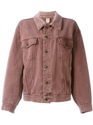 Moschino Vintage Oversized Denim Jacket Pink And Purple