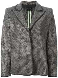 Giorgio Armani Tweed Blazer Grey